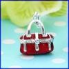 bolsa de plata encanto joyas colgantes proveedor de la moda de joyería de esmalte