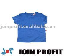Children apparel Organic cotton plain boy t-shirt