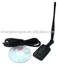 High Power WLAN USB adapter Palm + 5 dBi dipole Antenna