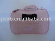 pink dog carrier