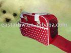 white dotted slap-up dog carrier sleep bag