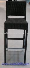 Aluminum PE rattan high bar chair for outdoor