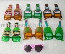 Party carnival beer bottle funny glasses MPG-0054