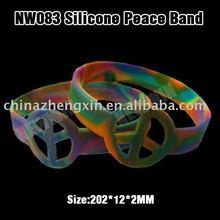 Fashion Peace sign silicone bracelet and wristband