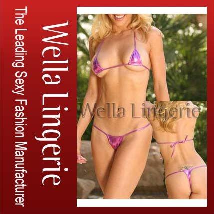 Sexy Hot Brazilian T-spot Tri Top Bikini with Micro G-string