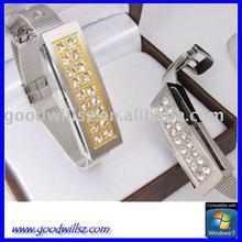 2gb 4gb 8gb flash drive golden gem stone Bracelet Bangle USB Flash Drive