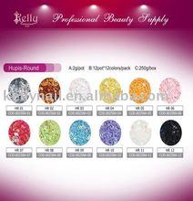 Hupis Round Shape Nail Art Deraction Glitter