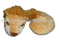 plush lion shaped neck pillow, neck roll, neck cushion