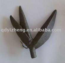 decorative cast steel leaves