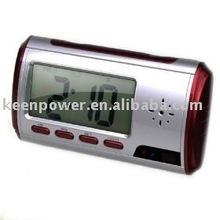 Digital Alarm Clock with Hidden Surveillance Camera