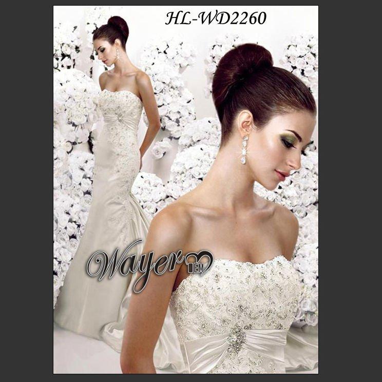 2011 Designer Mermaid Beaded Lace Wedding Dresses HLWD2260