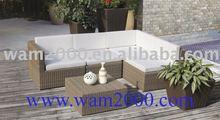 Patio garden aluminum round pe rattan sofa set for outdoor