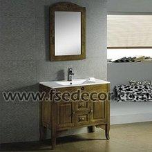 Hand Carved Patterns Wooden Bathroom Furniture