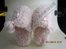 closed toe Cartoon indoor outdoor women or girl shoes Plush Slipper