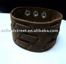2012 fashion leather cuff bracelet