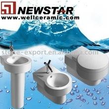 Ceramic toilet suite (closestool,pedestal basin,bidet)
