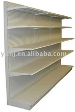 single sided plain back supermarket equipment shelves