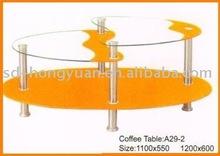 unique design glass coffee table