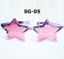 purple star party glasses