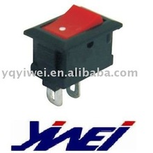 on off red or black board 2 pins terminals 15*10.5mm mini rocker switch