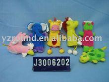 delicate plush cock,elephant,giraffe,turtle hand puppet
