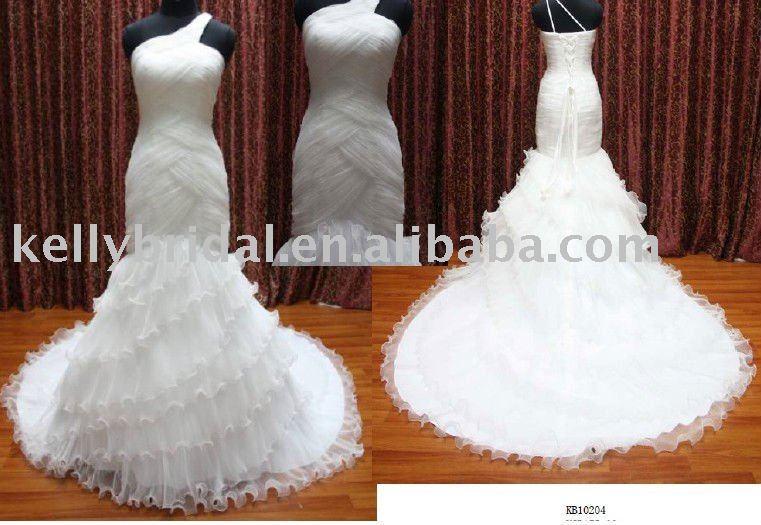 Arabic Wedding Dress Beautiful Mermaid OneshoulderKB10204