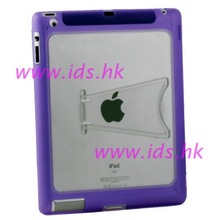 Clear TPU GEL Case with Stand for IPAD 2