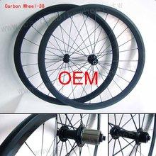 Hot 700C Full Carbon Wheelset/38MM/Tubular/Novatec hub/Shimano or Campagnolo cassette body