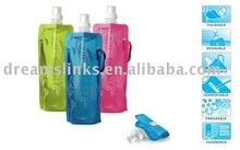 Guaranteed 100% Portable plastic foldable sport travel water bottles Multi-colors 480ml BLUE