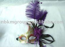 Christmas feather mask