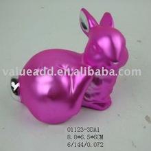 2012 ceramic easter electroplating bunny figurine