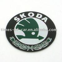 car sticker for wheel cap with Skoda logo