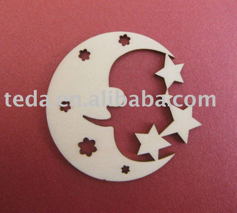 Decorazione Fiori Disegno : La luna disegno di natale appesa ...