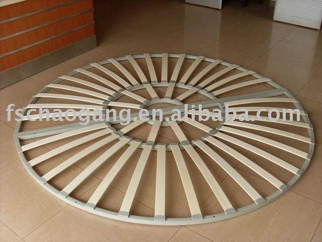 Round wood slat bed frame buy slat bed slat semicirle for Diy round bed frame