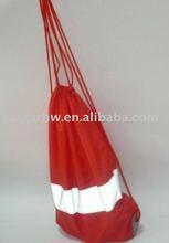 red 210T nylon cheap basketball drawstring backpack