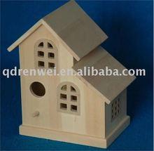 wooden bird house, bird house