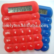 electronic mini calculator with 8 digits display