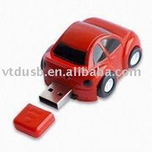 nice plastic car usb flash drive, pantone color logo usb memory, white usb with print logo to pantone PMS color