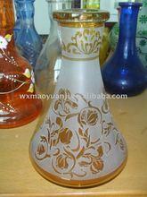 colored shisha blown glass Hookah from China