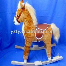 factory supply fashionable plush rocking horses toys