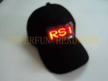 promotional LED advertising display hats