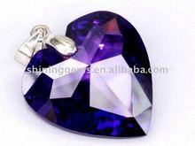 facet dazzling amaranth heart shaped signity cz gemstone