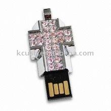 cross shaped jewelry metal usb flash drives as girls gifts