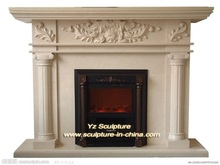 Outdoor Decoration large Marble fireplace FPS-E044