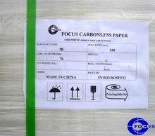 55gsm carbonless paper in black & blue image