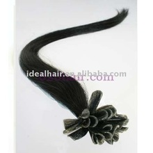 brazilian nail hair extension kertain u-tip hair