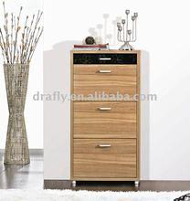 Walnut wooden shoe rack