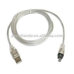 USB 2.0 to IEEE 1394 Firewire 4 Pin 4 feet Extension Cable for Digital Camer or camcorder