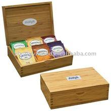 varnish finished tea chest box