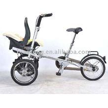 Folding child carrier babystroller bike bicycle